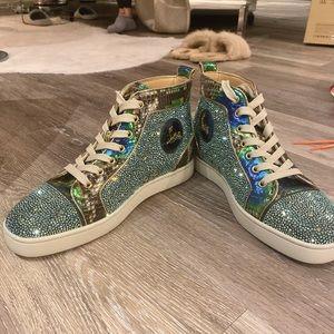 Christian Louboutin Swarovski Chrystal Sneakers